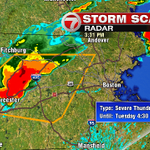 Severe T-storm #Warning in effect for Worcester, Middlesex Counties through 4:30pm #7News http://t.co/2mnZUOEMEZ