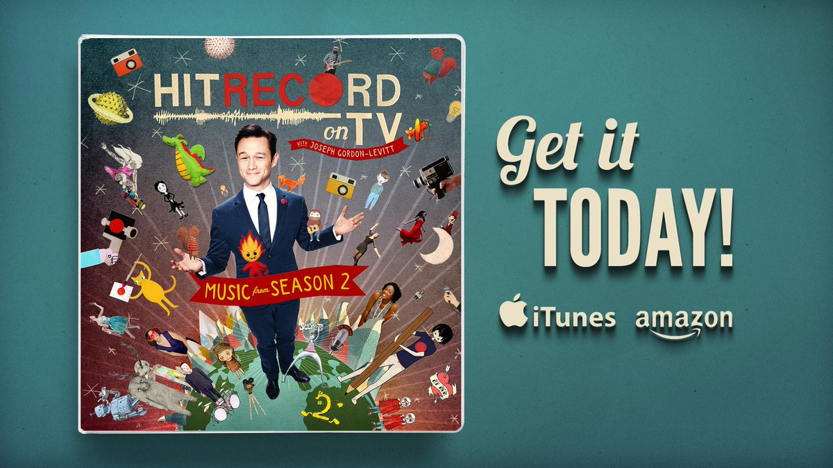 RT @hitRECord: Cool news! The music from #HITRECORDonTV Season 2 is now available on iTunes & Amazon: http://t.co/gGsfK01UgK. Enjoy! http:/…