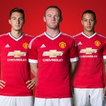 As long as we're #United, we will always win. Heres @waynerooney, @Memphis & @DarmianOfficial in the new #mufc kit. http://t.co/tDChEUyfuB