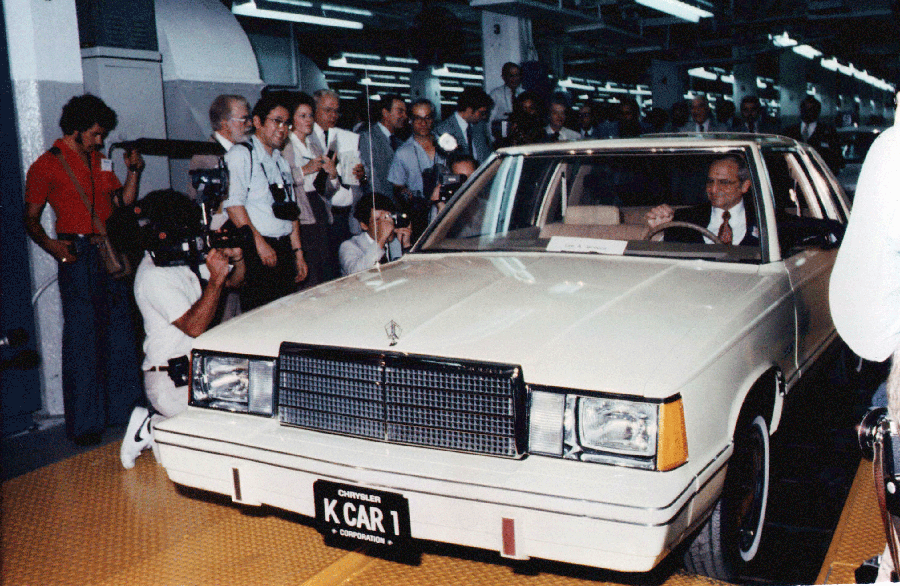 TODAY IN AUTO HISTORY: #Chrysler CEO Lee Iacocca drives the first K-Car off the line at a Detroit plant in 1980. http://t.co/9qvxkrERzS