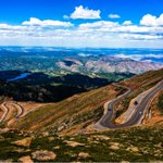 Long and windy road up to the top of Pikes Peak. Lovely views. #exploreco http://t.co/CASN9pxhHj