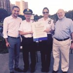 Honoring Cpt Raia from @NYPD45Pct for her leadership & for building stronger bonds with #Bronx residents #NNO2015 http://t.co/GxEYnrnRct