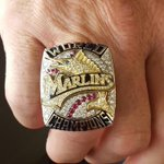 Mike Redmond and his giant world series ring are here.  @spokaneindians @700espn http://t.co/f780XcSLuC