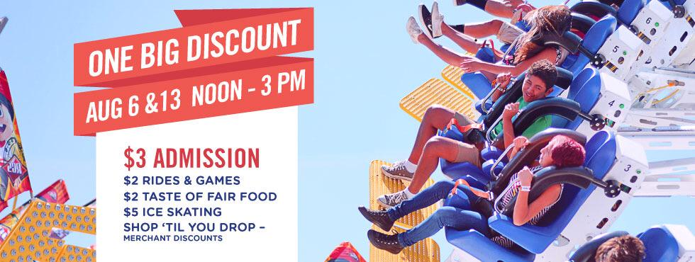 Do you want to see the @ocfair for a big discount? Come join the fun Aug. 6 and 13 from noon to 3 p.m. for $3 fee. http://t.co/guhY88DtTK