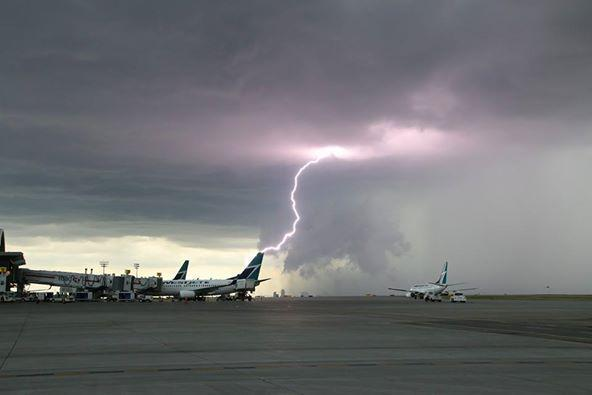 How about this shot from the Calgary Airport?! #yyc #abstorm http://t.co/fmnLSG5AEl