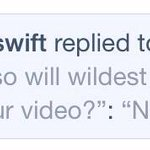 Taylor confirmed to a fan on tumblr just now that the Wildest Dreams music video will not be the tour video http://t.co/C3qSp5DdGX