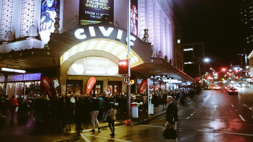 Big crowd out for tonight's @iHeartRadioNZ @adamlambert gig at The Civic http://t.co/zov60uMKMt