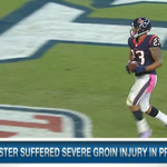 Arian Foster is expected to miss the first 8 games of the season due to major groin injury (via @RapSheet) http://t.co/Biakcyzd7f