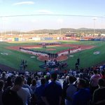 Lets play ball! The Northwest League is set to take on the Pioneer League @AvistaUtilities stadium! @spokaneindians http://t.co/HniQqmDQYb