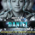 """@imdanielpadilla: Mga Kapamilya!Daniel Padilla Live po sa Batangas City Sports Center sa Aug29,Sabado po yan...  http://t.co/weaCWBZ5dC"""