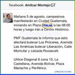 ACLARACIÓN: manifestación sale mañana de Plaza Italia, 08:00 am. Estarán en CSJ, CC, Congreso y Casa Presidencial. http://t.co/TlLQ6DMJbw