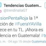 El #PuebloROJO manda #fueraYAVilla es TT @arzu_alvaro @muniguate recuperen MUNICIPAL otra JD, que la afición elija. http://t.co/ZLT3zY05zB
