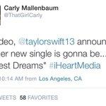 Taylors next single is Wildest Dreams! http://t.co/zzKrw9CW6C