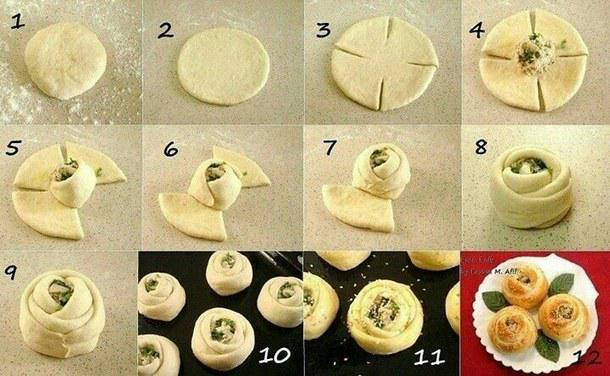 خطوة بخطوة #فكرة تحضير ورود الجبن والسبانخ. ما رأيك؟  #ريتويت #السعودية #غرّد_بصورة http://t.co/ddAETBIcWN