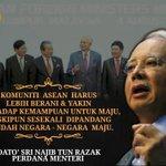#ASEAN harus berani & yakin terhadap kemampuan utk maju meskipun sesekali dipandang rendah negara2 maju- @NajibRazak http://t.co/i41DVqPaRM