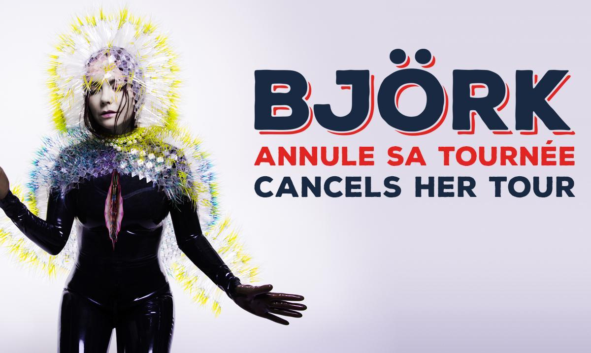 Björk annule sa tournée. Toutes les informations sur :  http://t.co/PkRAR2cDZI #RDR2015 http://t.co/lpbVGTNQyT