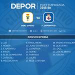 CONVOCATORIA del #Deportivo para enfrentarse esta tarde al REAL OVIEDO en el Reino de León (20:30h, TVG2). http://t.co/4a0DpM9Vkr