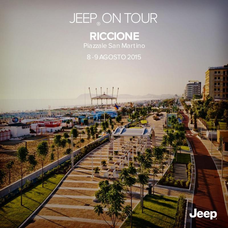 Divertimento a Riccione con #JeepOnTour. L'8 e il 9 Agosto vieni a scoprire la gamma #Jeep in Piazzale San Martino. http://t.co/ZzIf79O67b