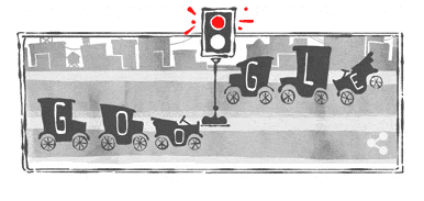 .@Google #doodle celebrates the first traffic light installed at 105th/Euclid in UC 101 years ago today! #Innovation http://t.co/4rVCfOqDLx