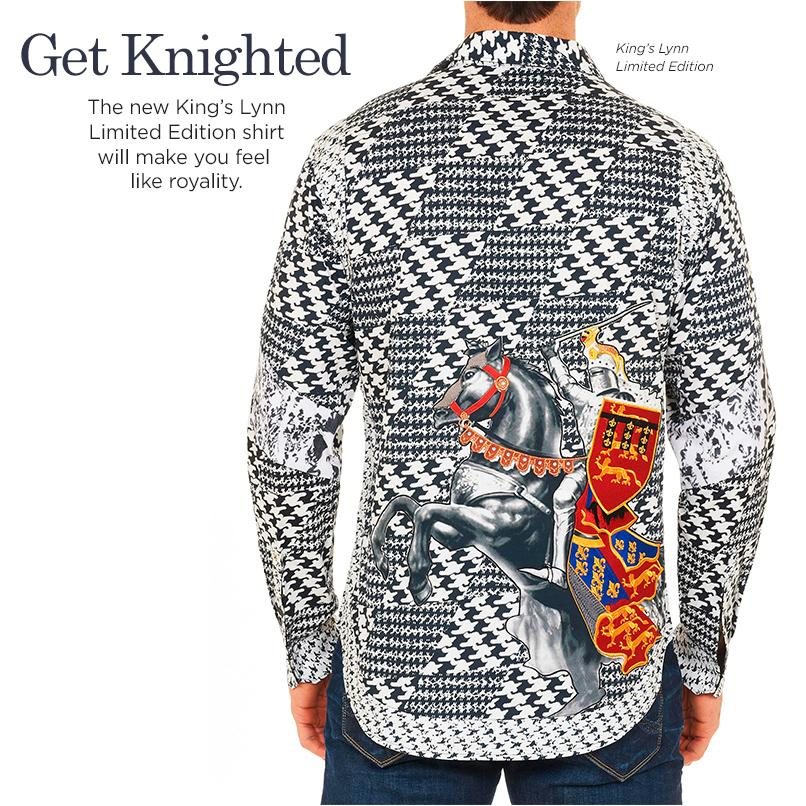 The new 'King's Lynn' Limited Edition shirt will make you feel like royalty. #ROBERTGRAHAM2015 http://t.co/YY9AhXKb77 http://t.co/xCjNY7or8C