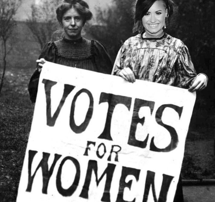 Rare footage of @ddlovato being a feminist before it was cool http://t.co/JZh2rTezGU