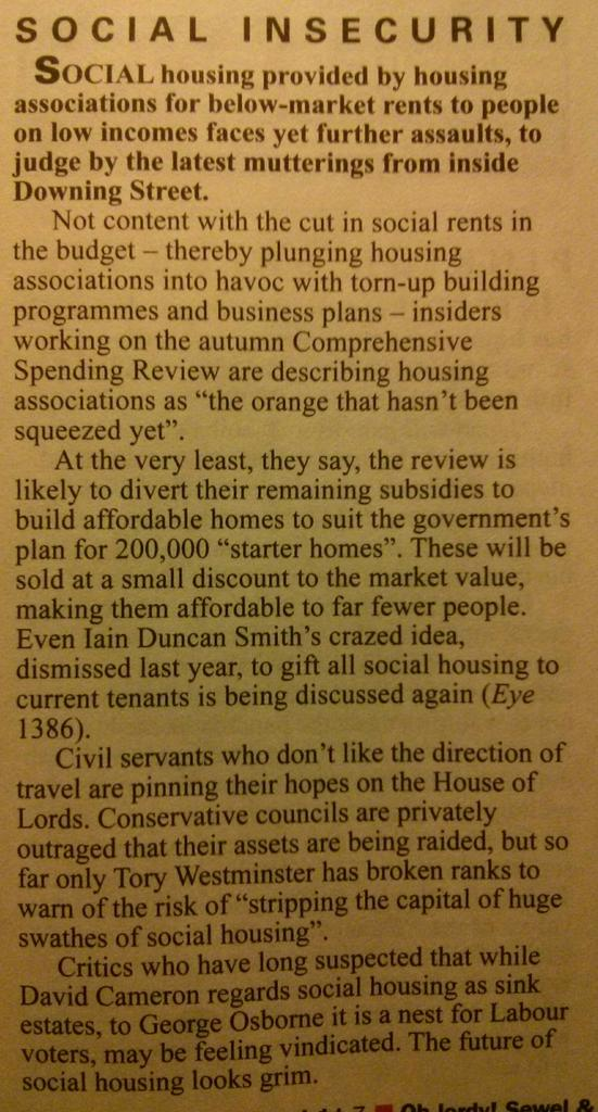 "Housing associations are ""the orange that hasn't been squeezed yet"" according to Private Eye http://t.co/Yhc483eEC0"