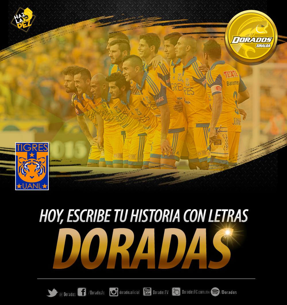 Hoy es el día, @TigresOficial. ¡Escribe tu historia con letras Doradas y #HazlaDePez en la Final! #TodoMexicoEsTigre http://t.co/jjMhW1rvjz