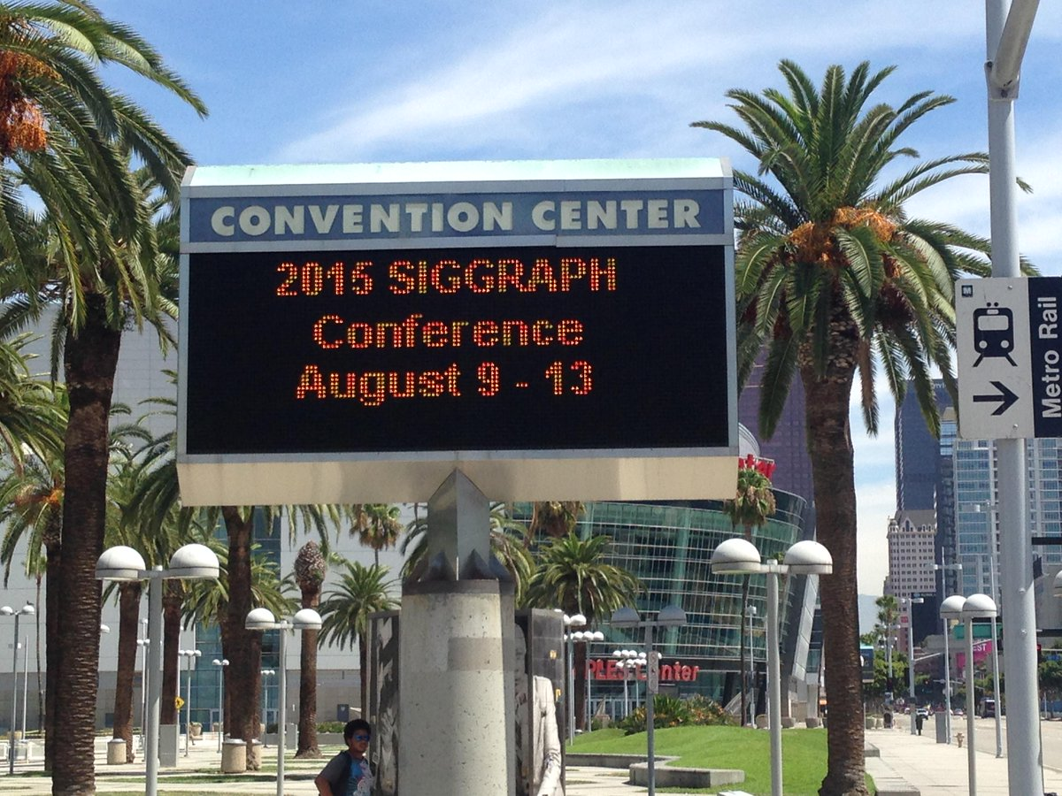 #SIGGRAPH2015 is in the house! http://t.co/uTMbLf4W3j