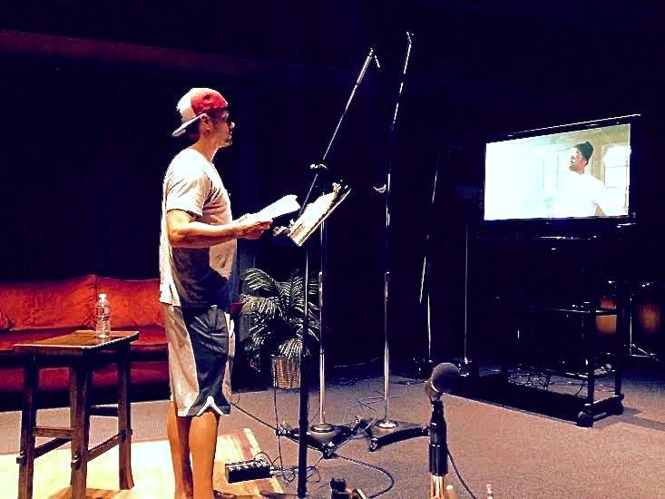 RT @joshduhamel: In the studio working on finishing touches for @WrongStuffMovie. #SPACEMAN http://t.co/ahGLkzn3Tx