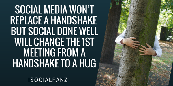 """Yes!! RT @TamaraMcCleary: """"#SocialMedia won't replace a handshake but.. http://t.co/1BSPARSPVV"""