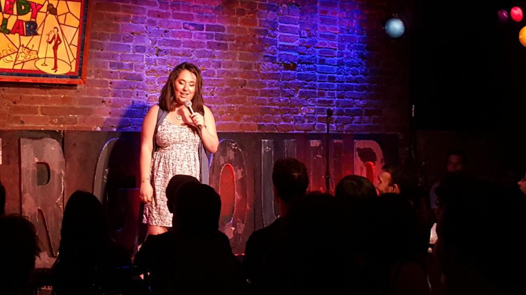 Lisa Treyger @glittercheese kicking off tonight's 2nd #ComedyUndergroundLive show! http://t.co/5ghLyBI3pH