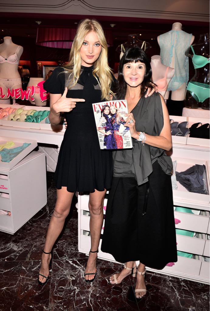 .@elsahosk celebrating September's @FashionCanada cover w/ EIC @BernadetteMorra! #TheNewestAngels #ElsaTakeover ????????✌???? http://t.co/YvJynw1yMC