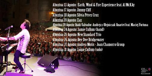 Del 13 al 31 de agosto, los conciertos del 50 Heineken Jazzaldia en La 2. A partir de las 01:30 horas. #jazzaldia50 http://t.co/RmhmSp0v2c