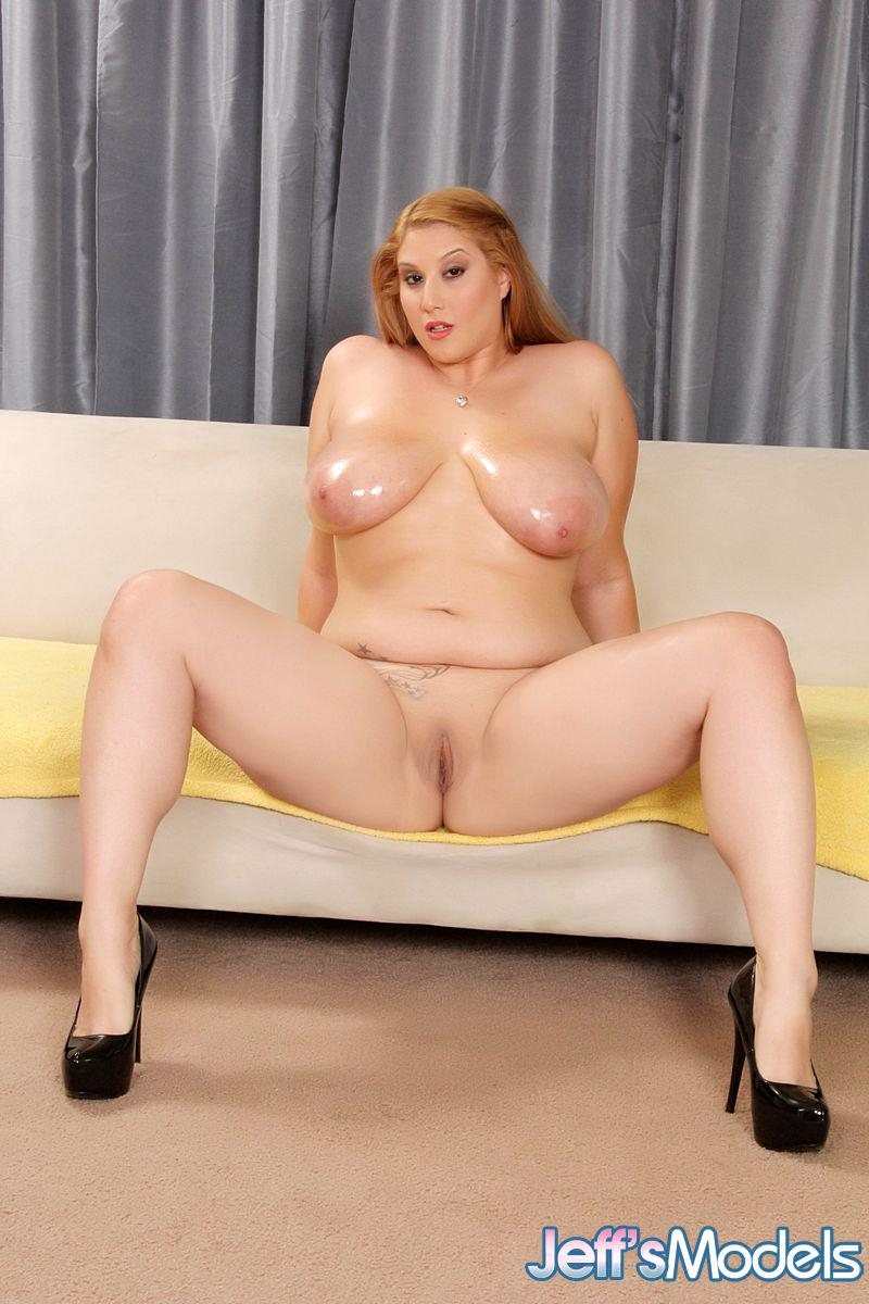 Full-figured Angel Deluca oils up her big tits and poses her sexy body.   #BBW #Plumper #Chubby
