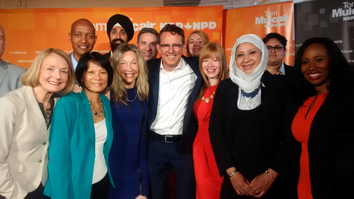 Some serious star women power in the next #NDP federal caucus. Wow! #elxn42 #cdnpoli #TM4PM http://t.co/FaJoslvXN9