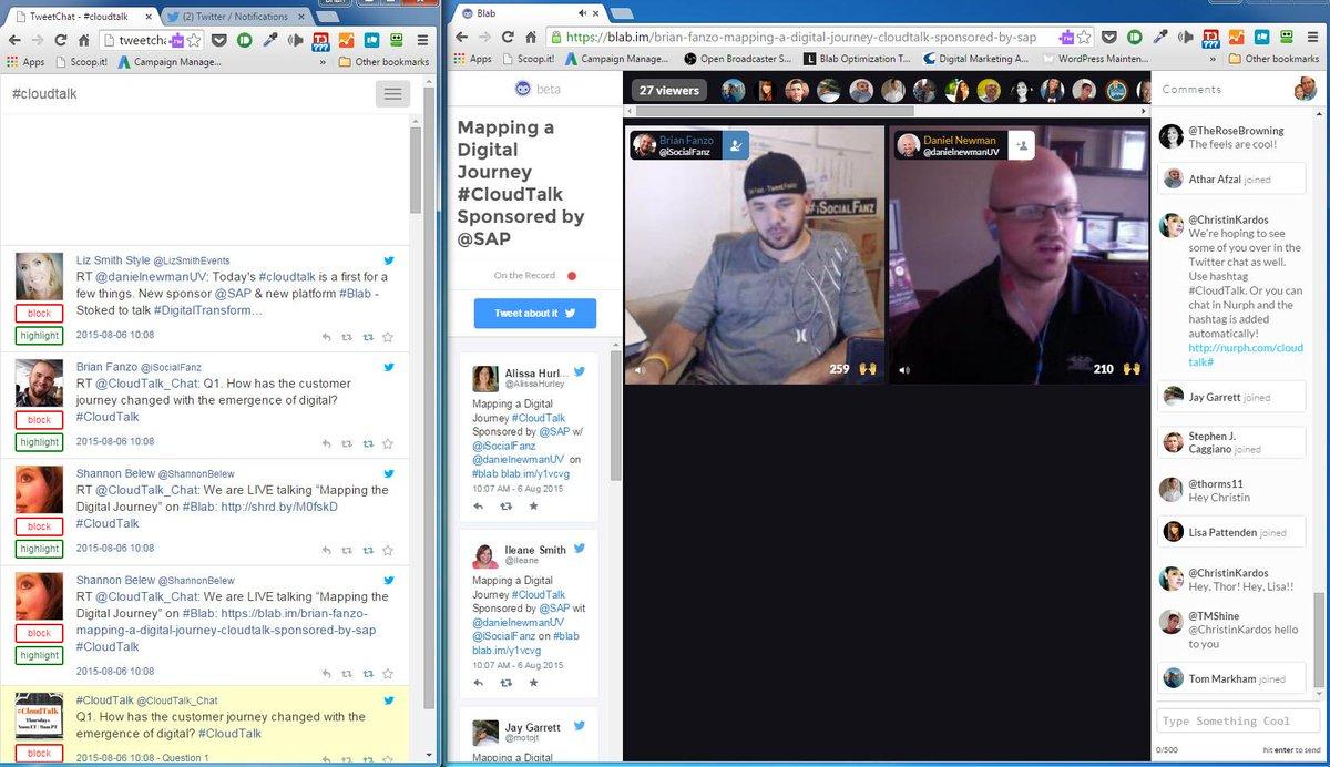 #CloudTalk w/ @danielnewmanUV @iSocialFanz #blab #twitterchat https://t.co/qCvX2U0AA2 http://t.co/YmdSLPH54p