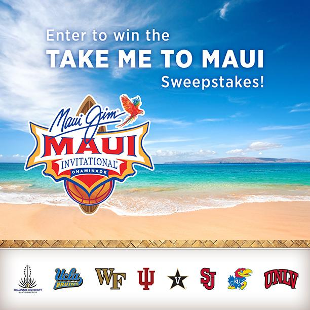 We're giving away a trip to #Maui for two! Win a chance to support your team at the @MauiInv​! http://t.co/e0tYvb1yrJ http://t.co/fjLyOK9jOo