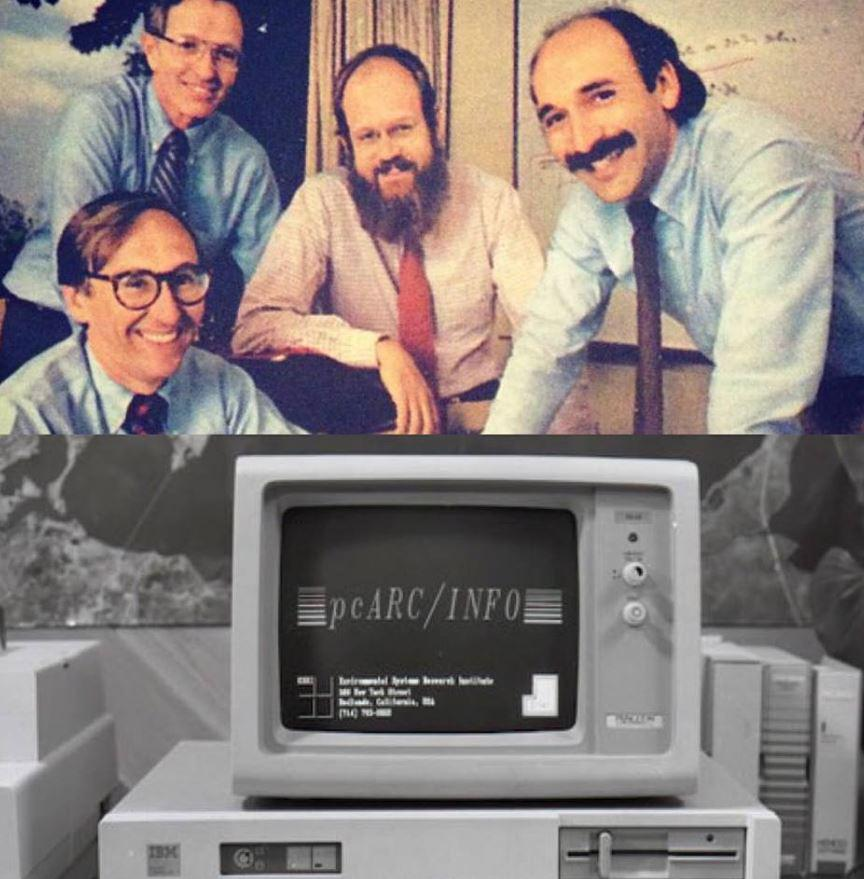 WOAHH! Great #TBT shared via @EsriStartups today! Jack and gang, 1969 - I think this was #esriuc #1 http://t.co/VZ6aHpi7hv