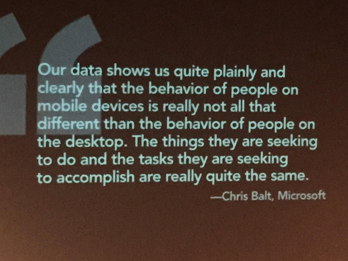 """The myth of behavioral differences in the """"Mobile Context"""" leads many companies astray. @karenmcgrane #dcc15 http://t.co/gnVG0bB0uY"""