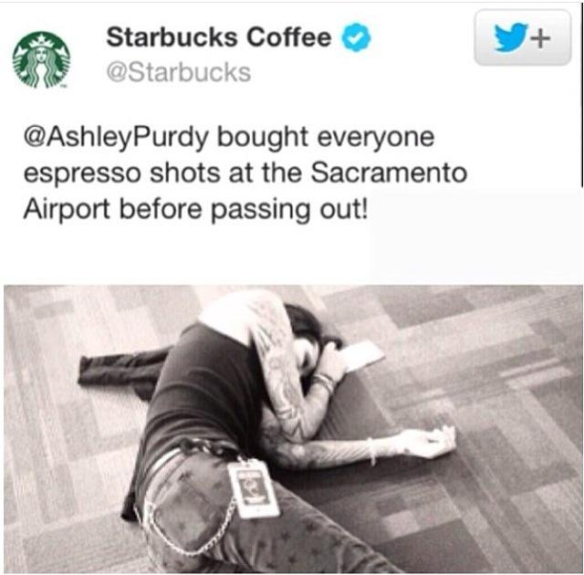 So this party happened on one of my visits to Sac! @Starbucks ������☕️ #party #starbucks #shots http://t.co/h6eyuKyNGm