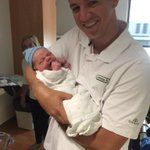 Congrats to @MarkKrebsJr on the birth of Kellan James Krebs. Mark tells me the mom and baby are healthy and happy! http://t.co/Lajw8rUkTk