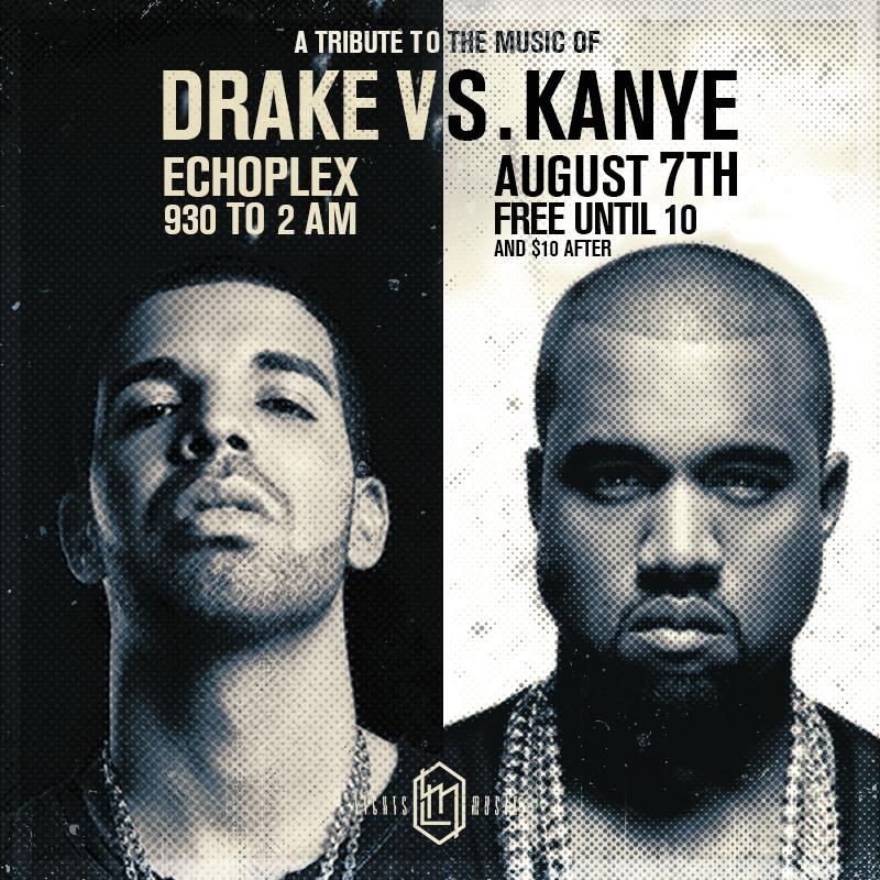 TOMORROW: Drake vs Kanye night! No Remixes, No Mashups, All Originals. First 50 people get in free. http://t.co/2tfQfY7EUB
