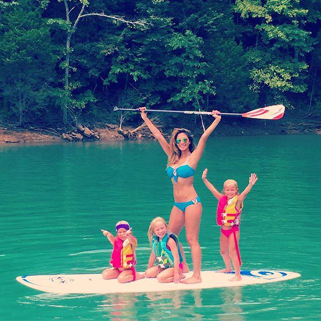 Yaaaaas!!! #LIVING! With my girls, this is how we do! Lakeside fun! #paddleboarding #famil… http://t.co/OMJkD16RqD http://t.co/Qy0wouN0fM