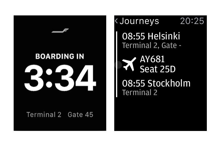 Tick tock, we're on the clock! Finnair App is now on the Apple Watch