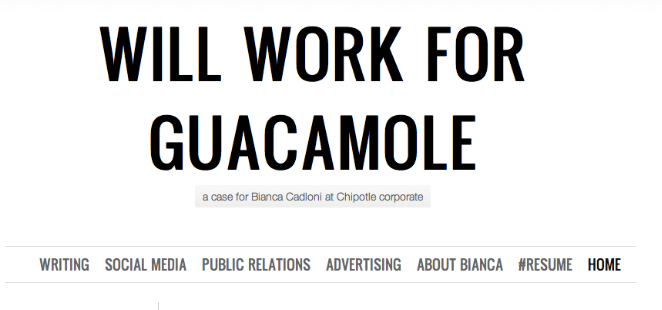 """Always loved this:  """"Thank You For Not Hiring Me #Chipotle""""  --->>> http://t.co/xQGwWBgHdc  Thoughts? http://t.co/ByfvyhnyGS"""