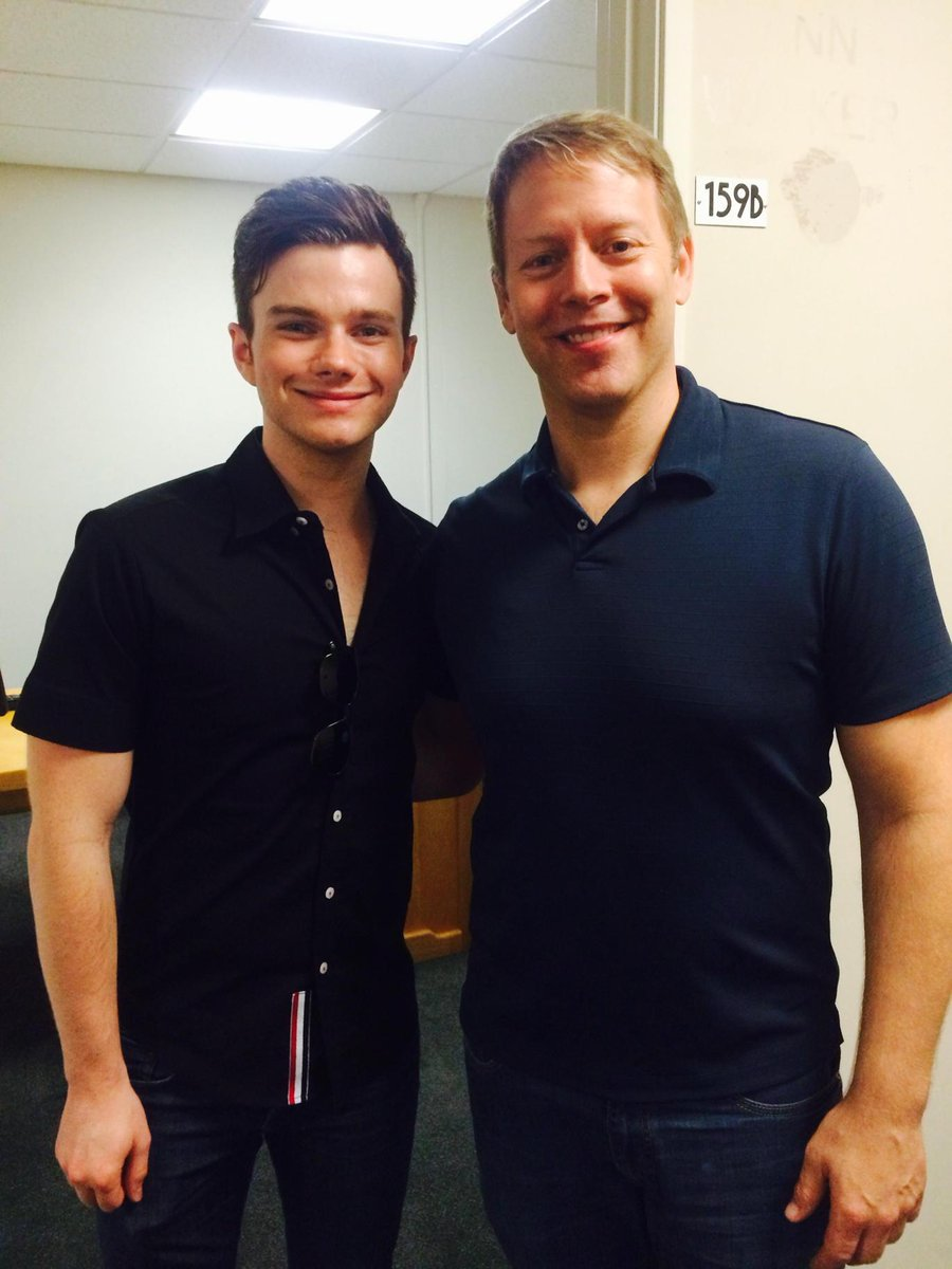 Very nice meeting you @chriscolfer. http://t.co/dETb2Y7IcS