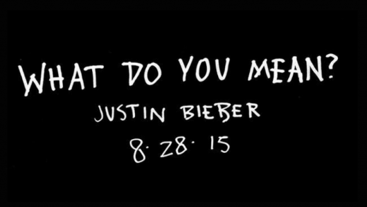 """This @justinbieber launch is flawless. And the video for """"What Do You Mean?"""" will be BIG. http://t.co/3zvYj1sOXN http://t.co/rbP6Cysftz"""