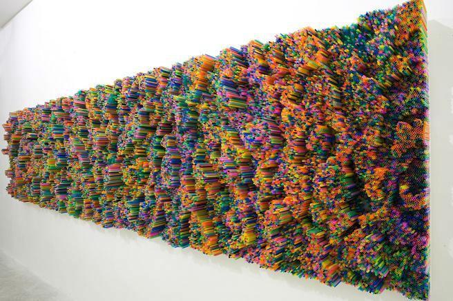 Francesca Pasqual, Straw Installation. #NFTO http://t.co/u3ZlwxzBBs