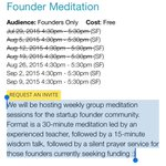/@Pinboard Founder Meditation sessions are going fast. http://t.co/QFDzMsC2la