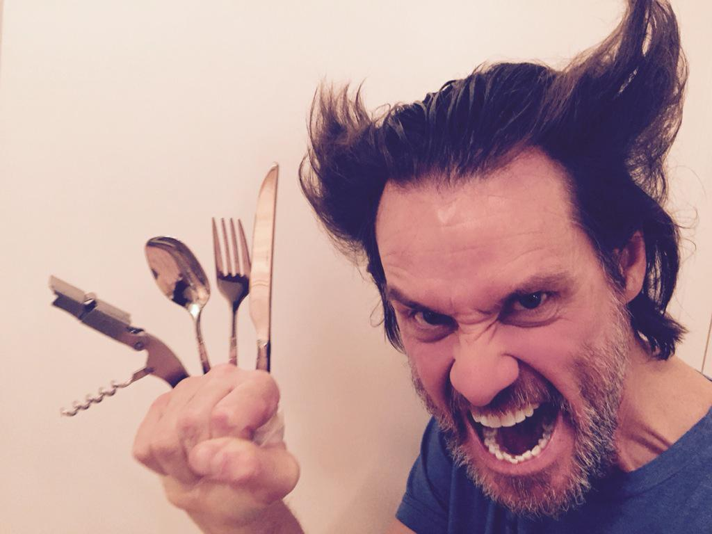 Nice move @RealHughJackman Now watch me make a meal out of your biggest role. ;^> http://t.co/GUfHB2RR4L